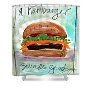 Good Burger Shower Curtain
