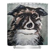 Good Dog By Christine Lites Shower Curtain