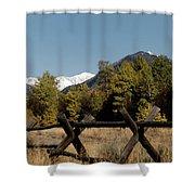 Good Fences Make Good Neighbors .... Robert Frost Shower Curtain