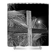Good  Friday  In  Black  And  White Shower Curtain