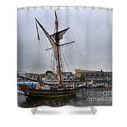 Good Friends Sailboat South Haven Shower Curtain