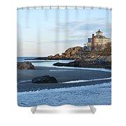 Good Harbor Beach Mansion Shower Curtain