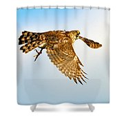 Good Hawk Hunting Shower Curtain