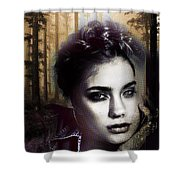 Good Listener But Bad Marriage Material, I Present You Claudette Potreaux Shower Curtain