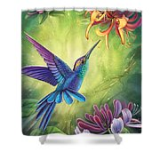 Good Luck - Honeysuckle Shower Curtain by Anne Wertheim