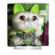 Good Meowning. I Feel So Lucky Today Shower Curtain