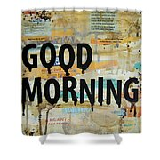 Good Morning Coffee Collage 9x12 Shower Curtain