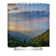 Good Morning From The Smokies. Shower Curtain