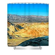 Good Morning From Zabriskie Point Shower Curtain