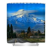 Good Morning Mount Hood Shower Curtain
