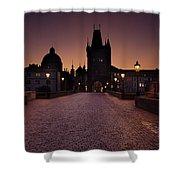 Good Morning Prague  Shower Curtain