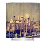Good Morning Venice Shower Curtain