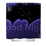 Good Night Shower Curtain