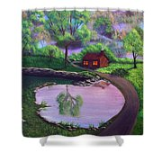 Good Spring Morning Shower Curtain