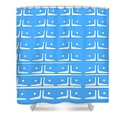 Up Tempo In Baby Blueberry Shower Curtain