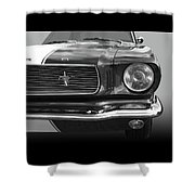 Good Vibrations - Black And White Shower Curtain