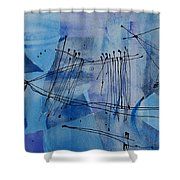 Good Vibrations Two Shower Curtain