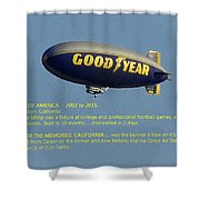 Good Year Blimp The Spirit Of America 2002 2015  Shower Curtain