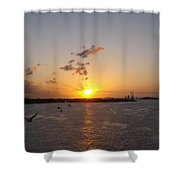 Goodby Sunset Shower Curtain