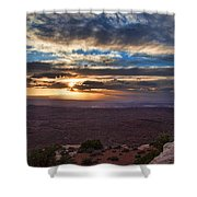 The Long Wave Goodbye Shower Curtain