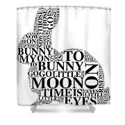 Goodnight My Bunny Shower Curtain
