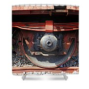 Goods Wagon Wheel Shower Curtain