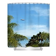Goodyear Blimp Spirit Of Innovation In Florida Shower Curtain