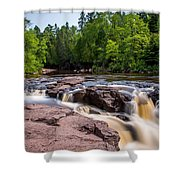 Goose Berry River Rapids Shower Curtain