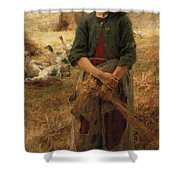 Goose Girl Of Mezy Shower Curtain