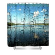 Goose Pond Reflection Shower Curtain