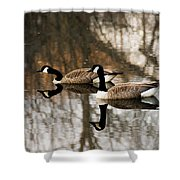 Goose Reflection Shower Curtain