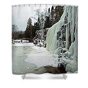Gooseberry Frozen Falls Shower Curtain