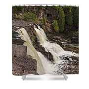 Gooseberry Middle Falls 26 Shower Curtain