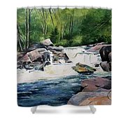 Gooseberry River Shower Curtain