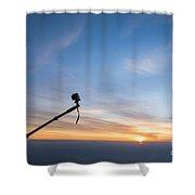 Gopro Action Sport Camera On A Boom Shower Curtain