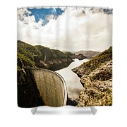 Gordon Dam Tasmania  Shower Curtain