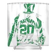 Gordon Hayward Boston Celtics Pixel Art T Shirt 5 Shower Curtain