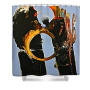 Gored Of The Rings Shower Curtain