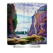 Gorge Entrance View Shower Curtain