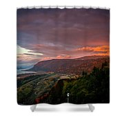 Gorge Sunset Shower Curtain