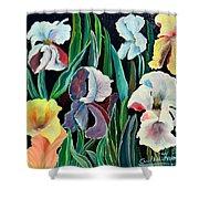 Gorgeos Iris Shower Curtain