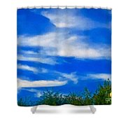 Gorgeous Blue Sky With Clouds Shower Curtain