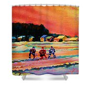Gorgeous Day For A Game Shower Curtain