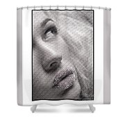 Gorgeous Girl With Sugar On Her Lips Shower Curtain