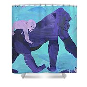 Gorgeous Gorilla Shower Curtain by Candace Shrope