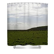 Gorgeous Grass Field With Clouds In Ireland Shower Curtain