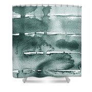 Gorgeous Grays Abstract Interior Decor Ix Shower Curtain