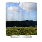 Gorgeous Seascape Along The Cliffs Of Moher In Ireland Shower Curtain