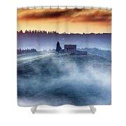 Gorgeous Tuscany Landcape At Sunrise Shower Curtain