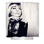 Gorgeous Woman Portrait Shower Curtain